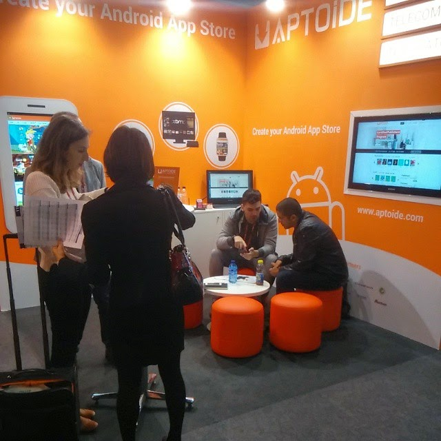 We're at the Mobile World Congress, in Barcelona