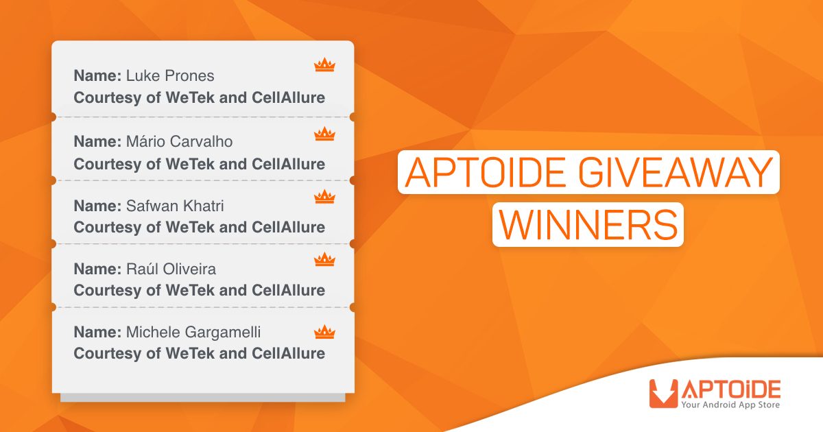 And The Winners Of The Aptoide Xmas Giveaway Are...